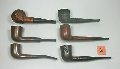 w6 Vintage Lot of Six Tobacco Smoking Pipes. Assorted Brands. Pre-owned.