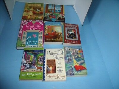 Lot Of 8 Cozy Mysteries Hechtman Goldenbaum Others*if Hooks Could Kill