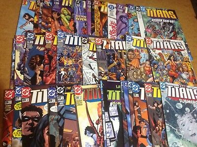 THE TITANS #'s 1-40! MOVIE SOON! STRAIGHT RUN! GREAT SHAPE! D.C. COMICS!