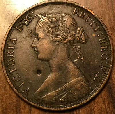 1862 Uk Gb Great Britain Half Penny Great Details Nice Old Coin !