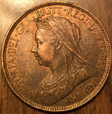 1900 UK GB GREAT BRITAIN HALF PENNY ! In great details!