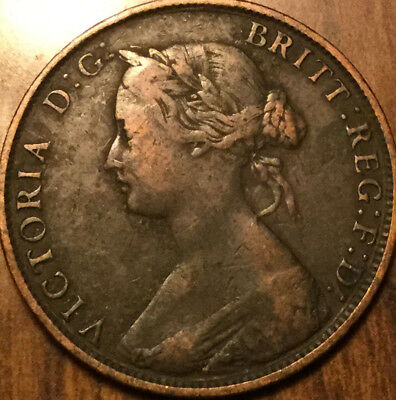 1862 Uk Gb Great Britain Half Penny In Good Condition !