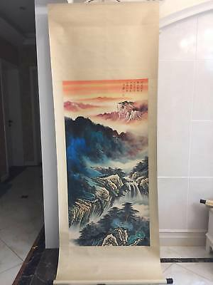 Excellent Chinese 100% Hand-painted Painting Scroll Daqian Zhang Tachisme