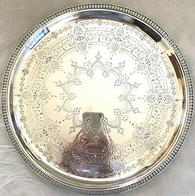 ANTIQUE VICTORIAN EPNS SERVING TRAY Beautiful Design