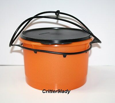 NEW Tupperware Halloween Canister with Carolier with Sparkles