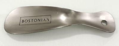 "BOSTONIAN Solid Metal Shoe Horn Shoehorn  Silver 7.5"" Long Made In USA"