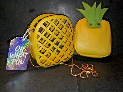 Designer Style Pineapple In A Basket Shoulder Bag/clutch-New With Tags