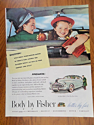 1947 Body by Fisher Ad   1947 Buick Model 51 Super Four Door Sedan