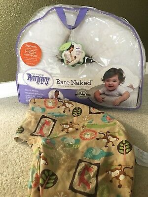 Boppy Bare Naked Feeding & Infant Support Pillow with Removable Slip Cover