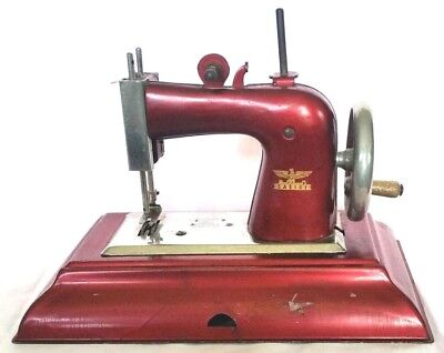 CASIGE Vintage Child's Miniature Toy 1940s Sewing Machine Metal Germany