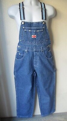 NWT'S Revolt Women's Denim Jeans Bib Overalls Navy Light Blue White Stripe S M L