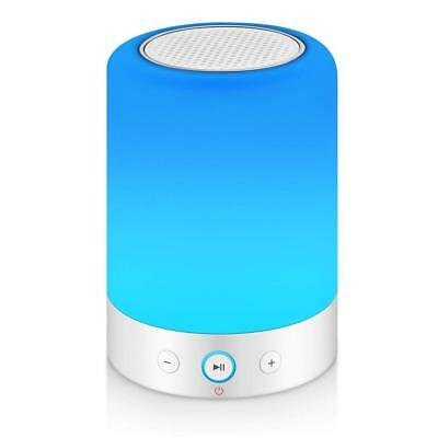 MRCOOL Touch Bedside Lamp with Bluetooth Speaker, Dimmable Warm White Table...