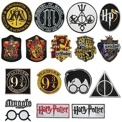 Harry Potter Collection Embroidered Iron On Sew on Patch Badge For Clothes etc