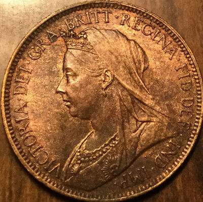 1901 UK GB GREAT BRITAIN HALFPENNY - Uncirculated