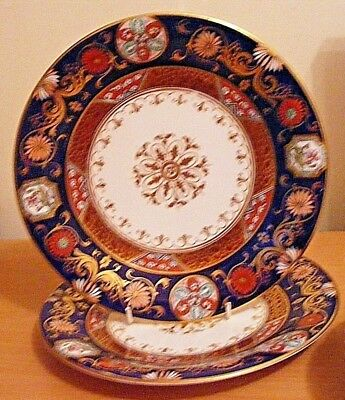 "Antique Pair Of George Jones Very Decorative Plates 9-1/4"" Imari Colours C1865"