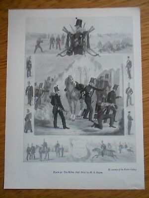 Vintage Military Print-  The Rifles 1846 Print By M A Hayes
