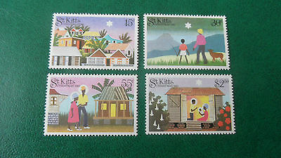 St. Kitts 1983 Sg 134-137 Christmas Mnh