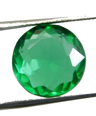 10.50Cts. Natural Round Cut Translucent Green Topaz Loose Gemstone T410