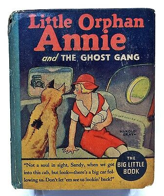 1935 LITTLE ORPHAN ANNIE and the Ghost Gang WITH ADS #1154 Big Little Book blb