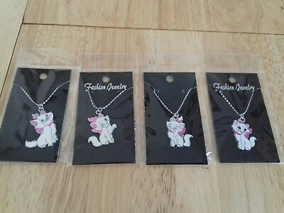 4 New Marie Cat Necklaces Carded And Bagged