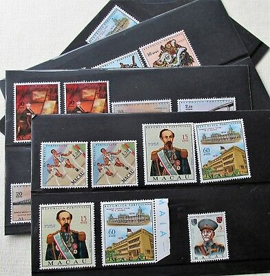 19 -Small Valuable Mnh Collection Of Macau On 4 S/cards High Cat, Nice Lot