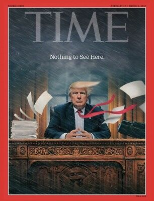 RARE NEW SEALED TIME Magazine Donald Trump Nothing To See Here,Inauguration,2017
