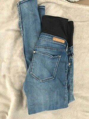 H&M MAMA High Rise Skinny Maternity Jeans Size 12 Light Denim
