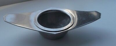 Retro Mid Century VINERS Stainless steel Tea Strainer & Drip Cup