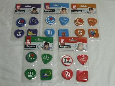 One Direction 1D Job Lot Of Band Locker Magnets NEW Harry Zayn Louis Niall Liam