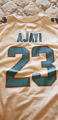 55d767f80 MENS LARGE Nike MIAMI DOLPHINS Game Jersey JAY AJAYI NFL Shirt White Road