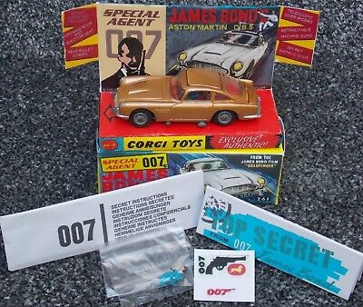 Corgi 261 James Bond Db5 Aston Martin  Fully Restored & Repoduction Box