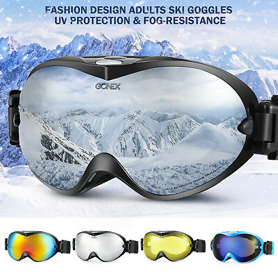 Winter Snow Ski Goggles Unisex Anti Fog Dual Lens UV400 Protection Frame