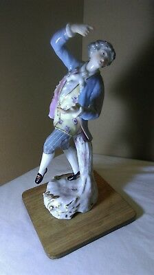 Antique Porcelain Male Figurine Regal Rococo