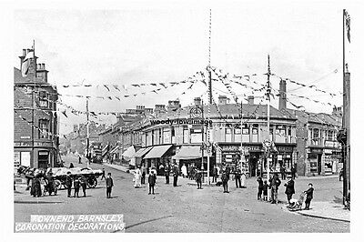 pt5604 - Barnsley Townend Coronation Decorations , Yorkshire - photograph 6x4