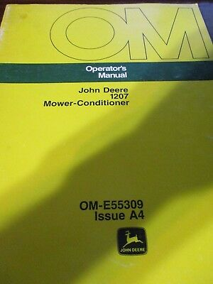 John Deere 1207 Mower-Conditioner Operator's Manual