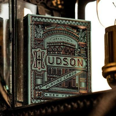 Hudson Playing Cards Green by Theory 11 Luxury New York Design