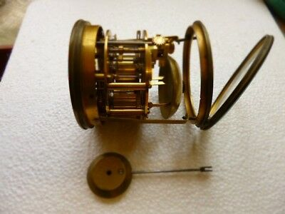 Vintage French Clock's Movement For Parts Or Repair