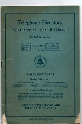 October 1928 A T & T NY  Office Telephone Directory