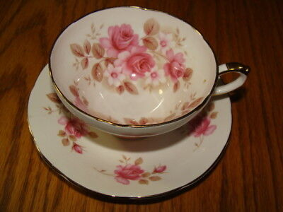 Fine Bone China Royal Sutherland Made In Staffordshire England Gold Trimmed