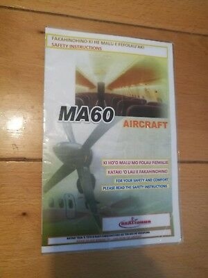 *** Safety Card - Real Tonga Airlines MA60 ***