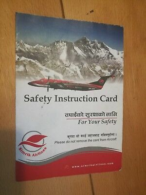 *** Safety Card - Simrik Airlines Beech 1900 [9N-AGI] on cover ***