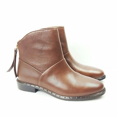 a147f41b96f UGG BRUNO BROWN Leather Ankle Booties Left 6.5 Right 6