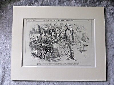 Vintage Punch Cartoon: Young Doctor Will Start On Children First, 1908.