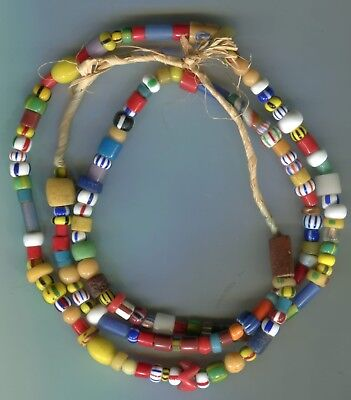African Trade beads vintage Venetian Czech glass old beads mixed type