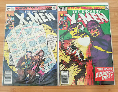 The Uncanny X-MEN issues #141 and 142.(Marvel 1981) Days of Future Past.