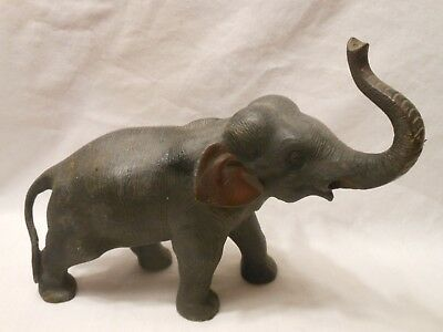 "Antique Large Cast Iron Elephant 10"" X 7"" /Doorstop /Unusual /Vintage"