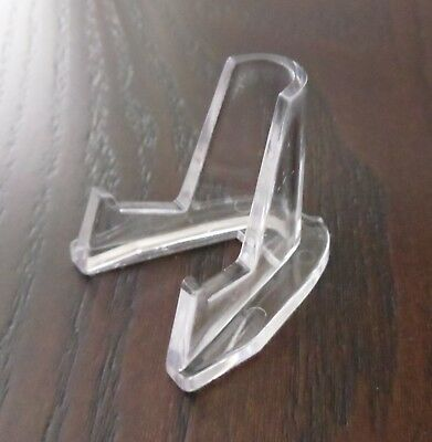6 Clear acrylic casino chip, trinket, coin display stands- Easel - Free Shipping