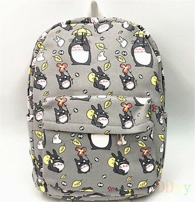 Studio Ghibli My Neighbor Totoro Canvas Backpack School Student Shoulder Bag Hot