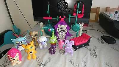 Monster High Secret Creepers Crypt and Animal Bundle