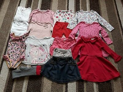 21Gg Baby Girls 18-24 Months Large Clothing Bundle Tops Dresses And More
